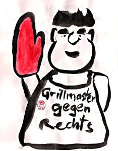 Grillmaster gegen Rechts, alle Bildrechte bei Nikkolo Feuermacher 2018