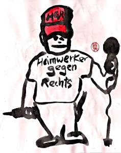 Heimwerker gegen Rechts, alle Bildrechte bei Nikkolo Feuermacher 2018